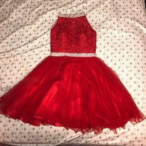 Red Snowball dress (short)